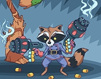 Rocket Raccoon and Groot!!