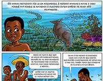 BANDA DESENHADA proteção espécies marinhas em extinção
