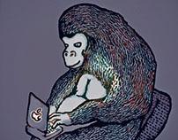 Gorilla with Laptop