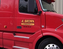 A. Brown Truck Lettering