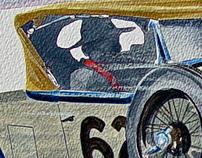 Gobi Racer watercolor