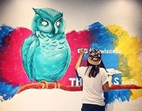The Owls Cafe Mural Design