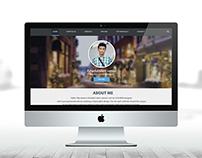 Personal web portfolio template Design