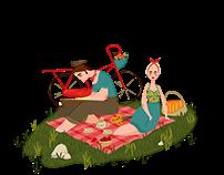 Sea, picnic..