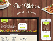 Thai Kitchen - food delivery service. UI/UX, responsive