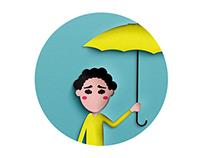 Pleurs dans la pluie