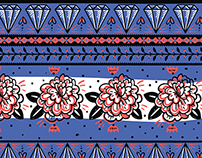 skulls&roses- vector collection of seamless patterns.