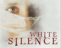 White Silence Horror Film Poster Template