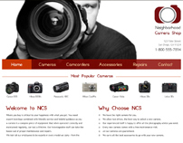 Neighborhood Camera Shop Website