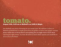 Tomato Seminar Poster Ad