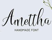 Amettha Handmade Free Font