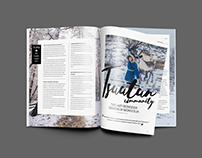 Wanderlusttip Magazine -layout Design