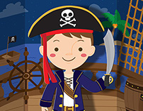Pirate boy dress up game