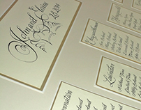 Wedding Calligraphy. From Invitation to Thank you
