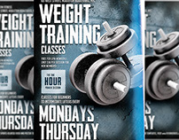 Weight Training Flyer Template