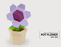 Pot Flower Purple - DIY Papercraft Kit