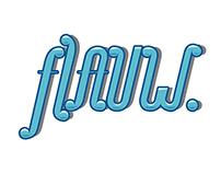 """""""Flauw"""" typography"""