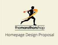 The Marathon Shop Homepage Design Proposal