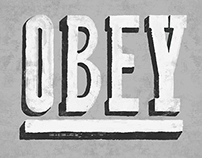 OBEY Vintage Sign Design