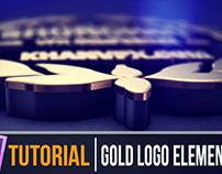 TUTORIAL | After Effects 3D Gold Logo Reveal Epic V 2