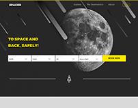 #SPACEDchallenge - Web Design