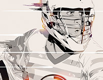 Lacrosse Player Illustration
