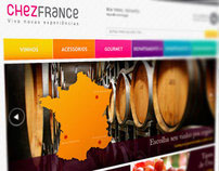 Chezfrance - Wine Web Store Layout