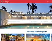 UX/UI Design - Zaranga landing page improvement
