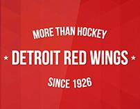 Detroit Red Wings app UI