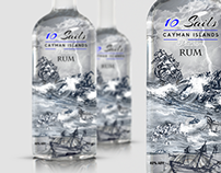 Cayman Islands Rum Label Design