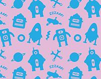 Pattern Design - Robots/Sci-Fi