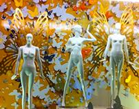 criação e produção da vitrina Lana Rosa