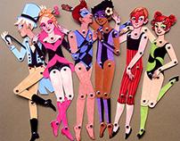 Circus Folk Paper Dolls