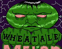 Label for the Imaginary Monster Melon Wheat Ale.