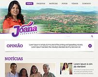 Site da vereadora Joana