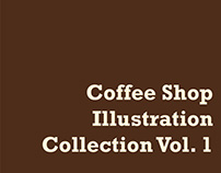 Coffee Shop Illustration Collection Vol. 1