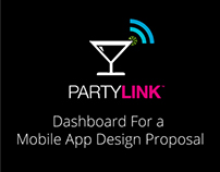 Party Link: Mobile App Dashboard Menu Design Proposal