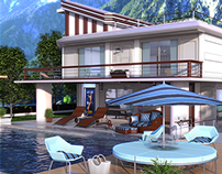 Mountain Villa Exterior. 3Ds Max & Vray