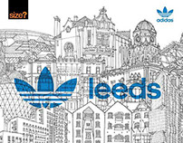 Leeds Cityscape for Adidas, briefed by Studio Juice