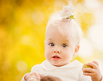 First Autumn for little girl