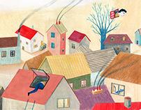 Les fenêtres magiques (Children's illustration)