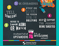 Be an Upstander Bully Prevention Poster