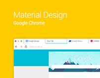 Material Design: Google Chrome