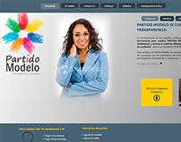 Sitio web & logo proyecto Partido Modelo