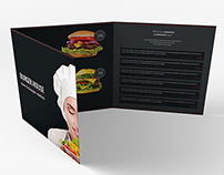 Burger House Brochure Tri-Fold Square