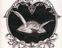 Médaillon reptiles