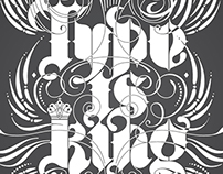 Type/idea is King Poster