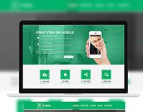 R Theme Home Page Design