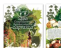 Brochure A6 | Agritourism farm Qzko