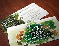 Business card | Agritourism farm Qzko